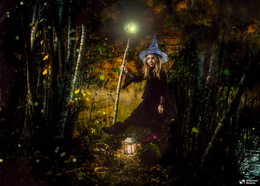 Halloween photo session composite
