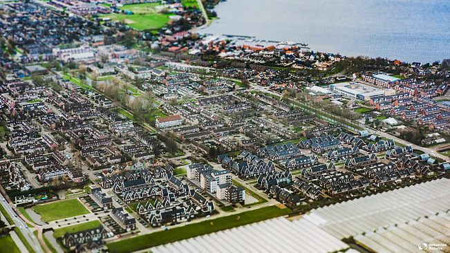 Amsterdam suburb from above