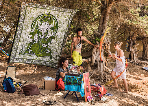 Hippies in Ibiza