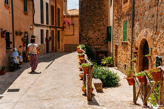 The streets of Valldemossa, Mallorca