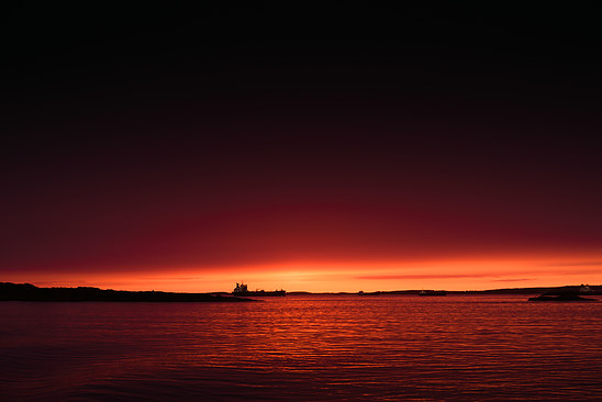 Sunset of Gothenburg archipelago