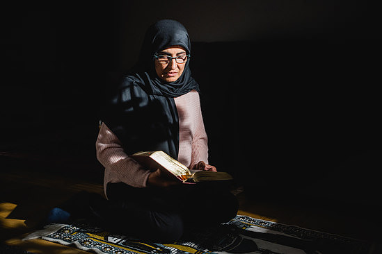 Reading from Quran - photo for HSB Magazine