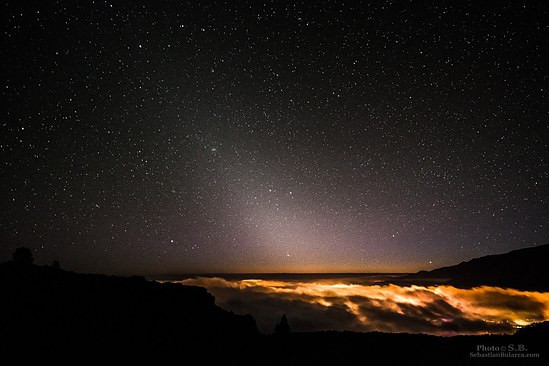 Zodiacal light in La Palma, Canaries